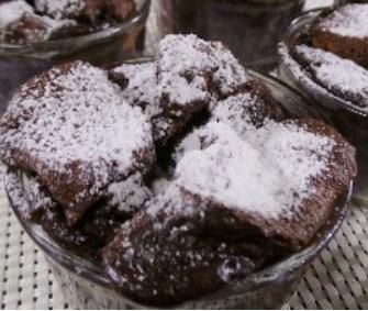 puding roti cokelat